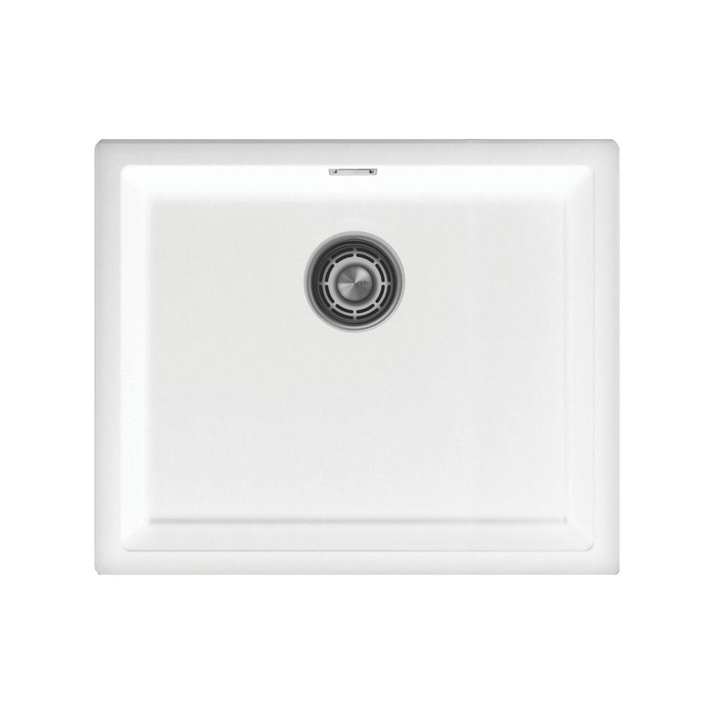Bílá Kuchyňský Bazén - Nivito CU-500-GR-WH Brushed Steel Strainer ∕ Waste Kit Color