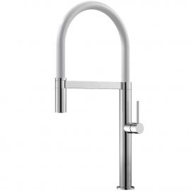 Kuchyňský Vodovodní Baterie Rozkládací hadice / Leštěná/Bílá - Nivito SH-310
